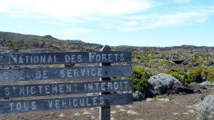 La Réunion Schild Wanderung
