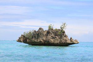 Mauritius Fels im Wasser